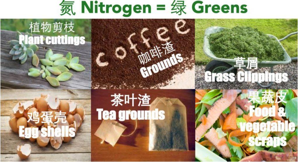 堆肥材料_富含氮的原料垃圾
